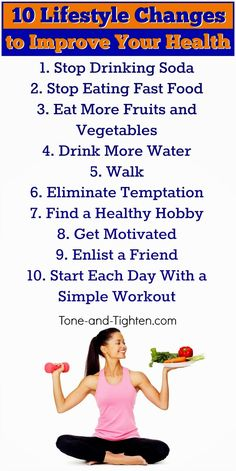10 easy lifestyle changes to help you lose weight and get healthy. #fitness #advice from Tone-and-Tighten.com