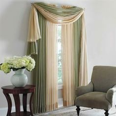 Scenario® Sheer Voile Scarf Valance and Rod-Pocket Panels | Curtains & Drapes | Brylanehome
