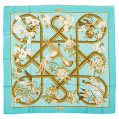 Check out this item at One Kings Lane! Hermès Caraibes Silk Twill Scarf