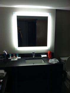 my future bathroom mirror - back light by strobe lighting