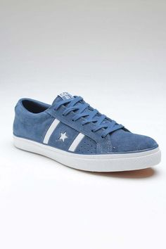 Blue converse.