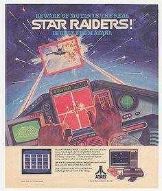 Vintage video games ad