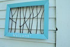 back doors, crafti, front door, a frame, old frames, picture frames, house art, diy, twig art
