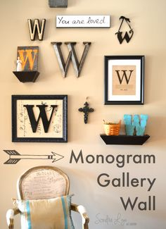 Monogram-Gallery-Wall-Sondra Lyn at Home