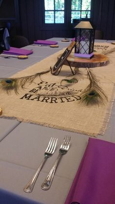 These handmade Peacock wedding runners had us drooling at Happy Days Lodge! Such impeccable detail!