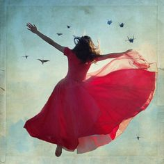 """""""Think of your life as dancing on air. In spirit soar up on gossamer wings of pure joy. Brush lightly by every mountain peak of difficulty."""" ~ Swami Kriyananda (Dancing with the Divine)"""