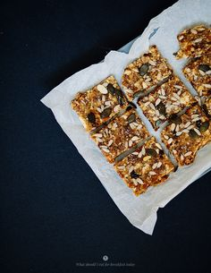 Healthy Quinoa Bars | what should I eat for breakfast