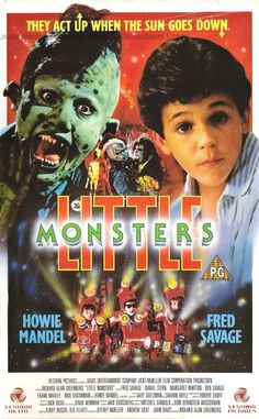 Little Monsters 1980's Movie Poster #retro #fredsavage #1980's #kids