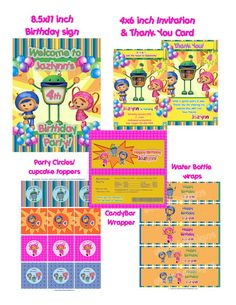 Team Umizoomi Deluxe Printable Package