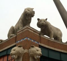 Comerica Park in Detroit, home of the Tigers. Detroit by iPhone.