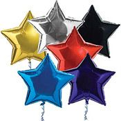 star balloons for decorations