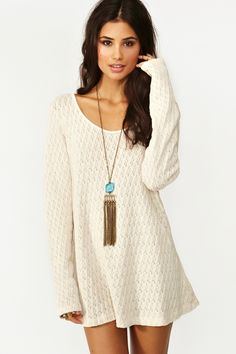 Isabella Knit Dress - a bit short but awesome. Maybe with some leggings and tall boots.