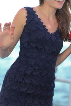 Nautical inspired dress with sailboats.  Classy.