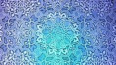 blue pattern flowers stars design mosaic floral ornaments doily 1920x1080 wallpaper