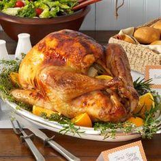 Happy Orange Turkey. Becky said it was the best turkey she's had.