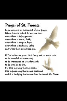 St Francis' prayer