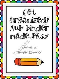 Easy Peasy Sub Prep! Enter for your chance to win 1 of 3.  Sub Binder (26 pages) from EndeavorsinEducation on TeachersNotebook.com (Ends on on 9-27-2014)  This product has all the tools necessary to prepare for a substitute teacher.