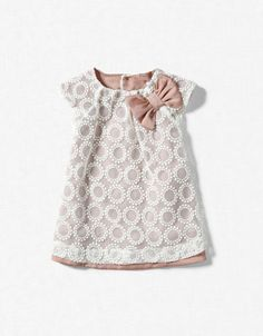Pretty Zara lace and bow dress / little girl outfit.. would love to get this or make something like it for Grace.