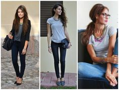 Super simple statement necklace outfits.  http://getyourprettyon.com/casual-chic-outfit-basics-the-statement-necklace/