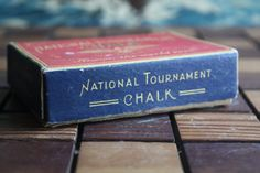National Tournament Pool Chalk box