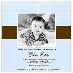 baptism invitations | Ethan Baptism Invitation by Lil Sweet Prince
