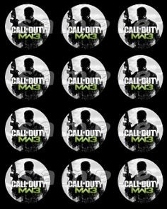 CALL OF DUTY MW3 2.5 ROUND STICKERS