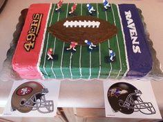 Superbowl cake 2013
