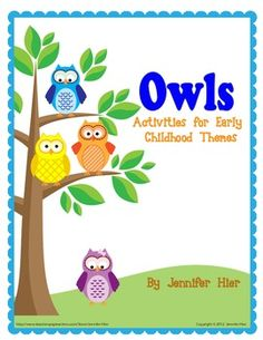 cute owl learning games / activities
