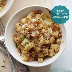 Creamy mac and cheese with lightly toasted garlic bread crumbs and a drizzling of truffle oil will make the most discerning mac and cheese lovers rejoice: http://www.bhg.com/recipes/from-better-homes-and-gardens/our-favorite-better-homes-and-gardens-winter-recipes/?socsrc=bhgpin122113italianmacandcheese&page=7