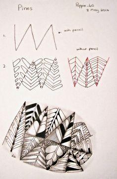 Poppie's Pen Pics ©: Poppie's Patterns -Pines