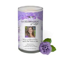 3x6 Glass Candles : Amethyst Custom Photo Memorial Glass Candle 3x6