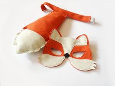 Fox Mask and Tail for Children Kids Carnival by BHBKidstyle, €25.00