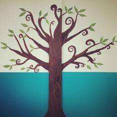 Painted tree (Sunday School room)