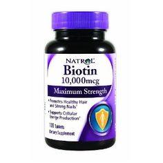 #10: Natrol Biotin 10,000mcg, Maximum Strength, 100 Tablets.