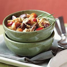 Roasted Vegetable-Rosemary Chicken Soup | Cookinglight.com
