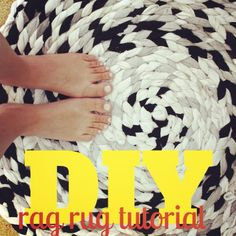 DIY {Braided} Rag Rug Tutorial ...using scraps of old sheets, pillow cases, sweatshirts and tshirts.
