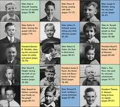 First Presidency and Q12 as children matching game.