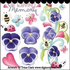 Pretty Pansies 1 Clip Art