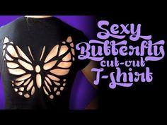 Sexy butterfly cut out t-shirt/Camiseta sexy con mariposa recortada - Mashpedia Video