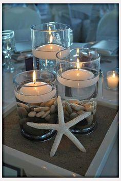 Decorations, Beach Wedding Centerpiece Idea  DIY: Best Beach Wedding Centerpieces Ideas @B R O O K E // W I L L I A M S Williams Thompson