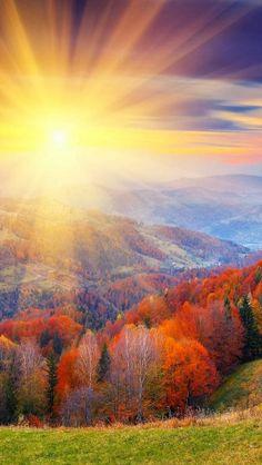 Autumn Sunrise - blinding light!