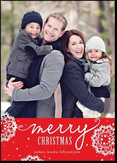holiday card from tiny prints