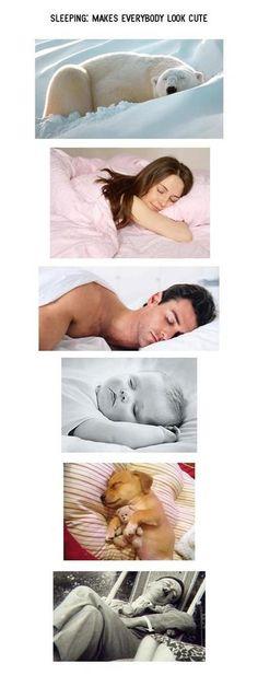 Sleeping makes everybody look cute.