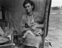 Migrant mother during the depression.