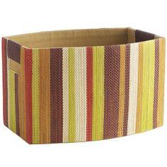 Al Fresco Stripe Basket