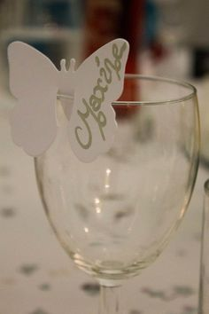 wedding place card- butterfly theme