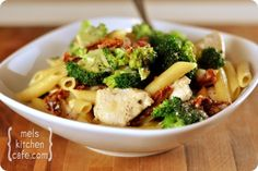 30-min Skillet Chicken Pasta with Broccoli and Sun-Dried Tomatoes