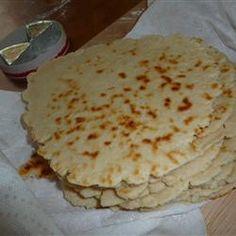 Piadina Romagnola (Italian Flat Bread) Allrecipes.com
