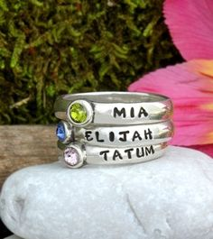 Mother rings, Mothers day rings and Mother day gifts