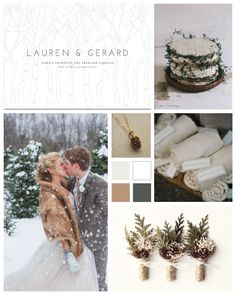 Rustic Winter Wedding Inspiration Board by papersnaps.com